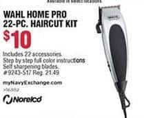 Navy Exchange Black Friday: Wahl Home Pro 22-pc Haircut Kit for $10.00