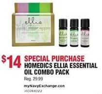 Navy Exchange Black Friday: HoMedics Ellia Essential Oils Combo Pack for $14.00