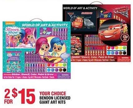 Navy Exchange Black Friday: (2) Bendon Licensed Giant Art Kits for $15.00
