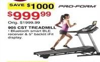 Dunhams Sports Black Friday: Pro-Form 906 CST Treadmill for $999.99