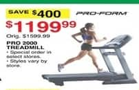 Dunhams Sports Black Friday: Pro-Form Pro 2000 Treadmill for $1,199.99