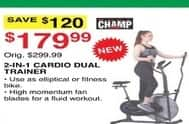Dunhams Sports Black Friday: Champ 2-in-1 Cardio Dual Trainer for $179.99