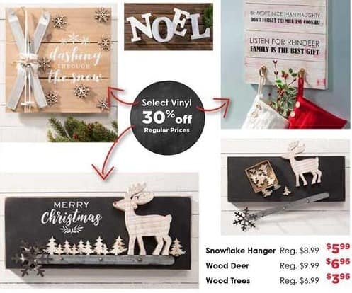 Craft Warehouse Black Friday: Select Holiday Vinyl Stocking Hangers - 30% Off