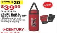 Dunhams Sports Black Friday: Century Youth Bag & Glove Combo Kit for $39.99