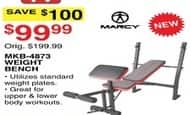 Dunhams Sports Black Friday: Marcy MKB-4873 Weight Bench for $99.99