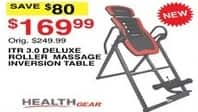 Dunhams Sports Black Friday: Health Gear ITR 3.0 Deluxe Roller Massage Inversion Table for $169.99
