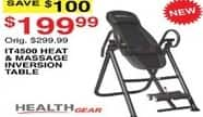 Dunhams Sports Black Friday: Health Gear IT4500 Heat & Massage Inversion Table for $199.99