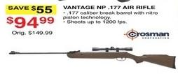 Dunhams Sports Black Friday: Crosman Vantage NP .177 Air Rifle for $94.99