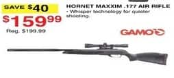 Dunhams Sports Black Friday: Gamo Hornet Maxxim .177 Air Rifle for $159.99