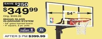 Dunhams Sports Black Friday: Spalding 88454G Glass In-Ground Basketball System for $349.99