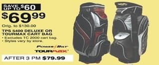 Dunhams Sports Black Friday: Powerbilt TPS 5400 Deluxe or Tourmax Cart Bag for $69.99