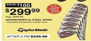 Dunhams Sports Black Friday: TaylorMade Aeroburner HL Steel Irons for $299.99
