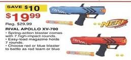 Dunhams Sports Black Friday: Nerf Rival Apollo XV-700 for $19.99