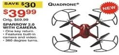 Dunhams Sports Black Friday: Quadrone Sparrow 2.0 with Camera for $39.99