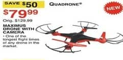 Dunhams Sports Black Friday: Quadrone Maximus Drone wiht Camera for $79.99