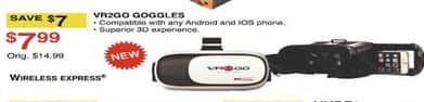 Dunhams Sports Black Friday: VR2GO Goggles for $7.99