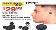 Dunhams Sports Black Friday: Hype Elite True Wireless Ear Bud for $29.99