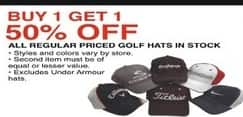 Dunhams Sports Black Friday: All Golf Hats Regularly Priced - B1G1 50% Off