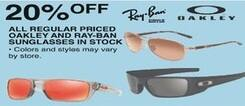 d0679d3827a Dunhams Sports Black Friday  All Oakley or Ray-Ban Regular Priced  Sunglasses - 20% Off