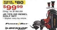 Dunhams Sports Black Friday: Powerbilt Jr TPS or Dunlop Rebel Golf Set for $99.99