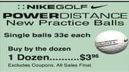 Dunhams Sports Black Friday: Nike Golf Power Distance Practice Golf Balls for $0.33