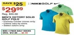 Dunhams Sports Black Friday: Nike Golf Men's Victory Solid Golf Polo for $29.99