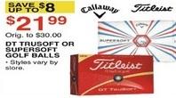 Dunhams Sports Black Friday: Titleist DT Trusoft or Callaway Supersoft Golf Balls for $21.99