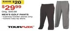 Dunhams Sports Black Friday: Tour Max Men's Golf Pants for $29.99