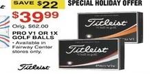 Dunhams Sports Black Friday: Titleist Pro V1 or 1X Golf Balls for $39.99