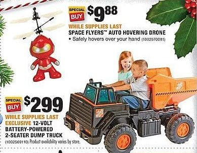 Home Depot Black Friday: Space Flyers Auto Hovering Drone for $9.88