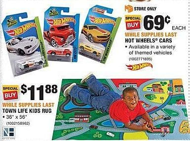 Home Depot Black Friday: Hot Wheels Cars for $0.69