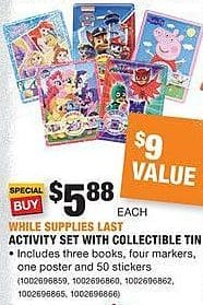Home Depot Black Friday: Activity Set with Collectible Tin for $5.88