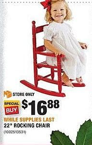 "Home Depot Black Friday: 22"" Rocking Chair for $16.88"