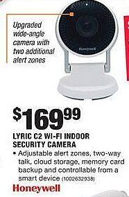 Home Depot Black Friday: Honeywell Lyric C2 Wi-Fi Indoor Security Camera for $169.99