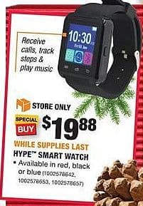 Home Depot Black Friday: Hype Smart Watch for $19.88