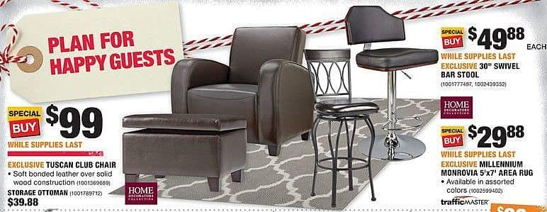 Home Depot Black Friday: Home Decorators Tuscan Club Chair for $99.00