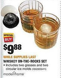Home Depot Black Friday: Modern Home Whiskey On-the-Rocks Set for $9.88