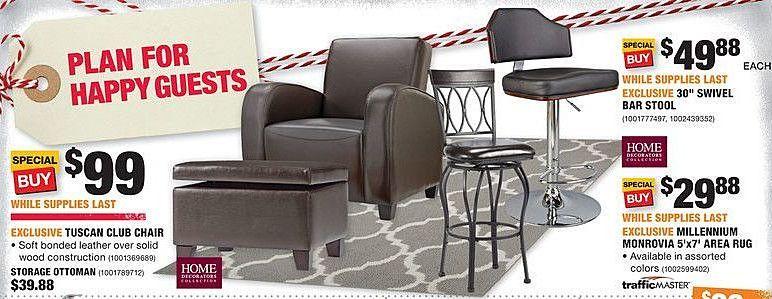 Home Depot Black Friday Home Decorators 30 Swivel Bar Stool For