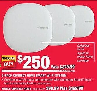 Home Depot Black Friday: Samsung 3-Pack Connect Home Start Wi-Fi System for $250.00