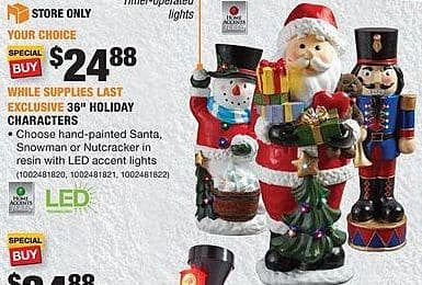 "Home Depot Black Friday: 36"" Holiday Characters for $24.88"