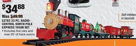 Home Depot Black Friday: Eztec 33-pc. Radio-Control North Pole Express Train Set for $34.88