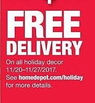 Home Depot Black Friday: Delivery w/ Purchase of Holiday Decor for Free