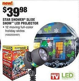 Home Depot Black Friday: Star Shower Slide Show LED Projector for $39.98