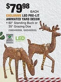 Home Depot Black Friday: LED Pre-Lit Animated Yard Decor for $79.98