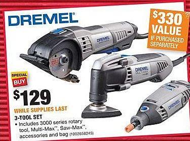 Home Depot Black Friday: Dremel 3-Tool Set for $129.00