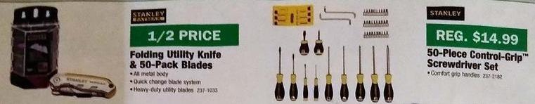 Menards Black Friday: Stanley 50-pc Control Grip Screwdriver Set for $9.97