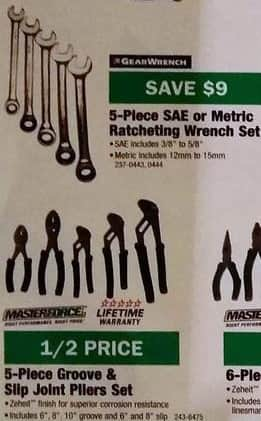 Menards Black Friday: Masterforce 5-pc Groove & Slip Joint Pliers Set for $9.97