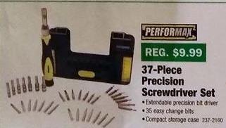 Menards Black Friday: Performax 37-pc Precision Screwdriver Set for $3.99