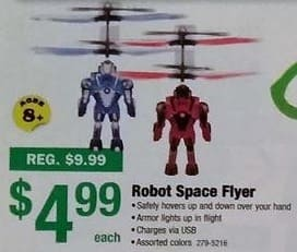 Menards Black Friday: Robot Space Flyer Toy for $4.99
