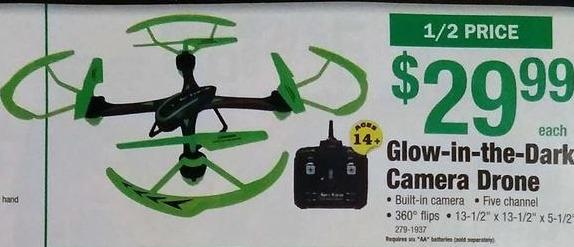 Menards Black Friday: Glow-In-The-Dark Camera Drone for $29.99